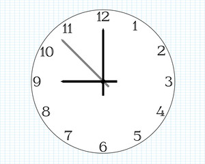 Simple clock face graphic