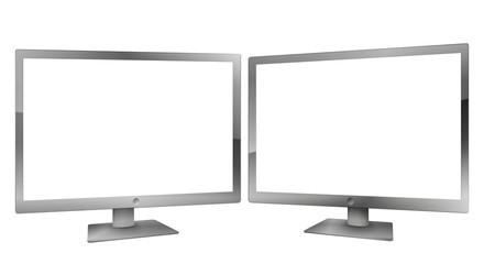 Double écran détouré