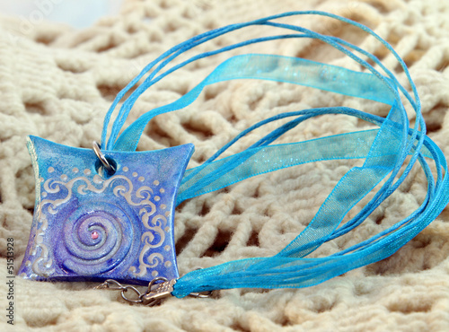 blue clay amulet