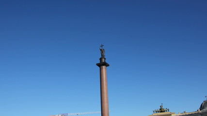 Alexander column on Palace Square, St. Petersburg Russia - timel