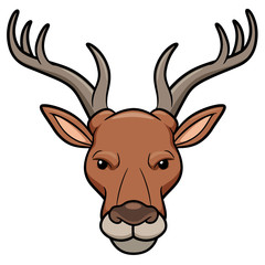 Vector illustration of Deer head