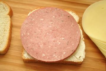Salami on White Bread