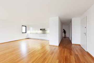 interior modern empty flat, apartment