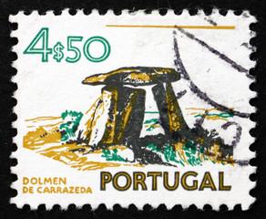 Postage stamp Portugal 1974 Dolmen of Carrazeda, Prehistoric Con