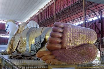 Reclining buddha of Yangon, Myanmar