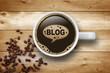 Kaffeetasse mit Blog - 51515305