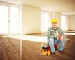 handyman in empty house