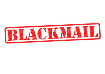 BLACKMAIL Rubber Stamp