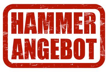 Grunge Stempel rot HAMMERANGEBOT