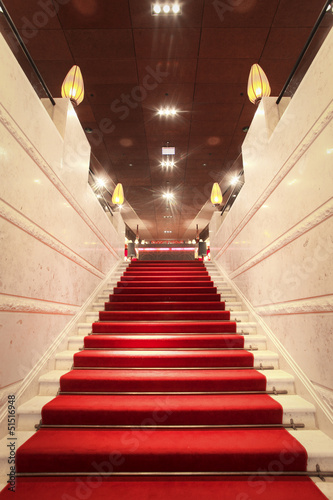 Poster luxurious staircase