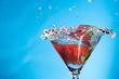 Fresa en una copa