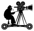 Camera man, vector illustration