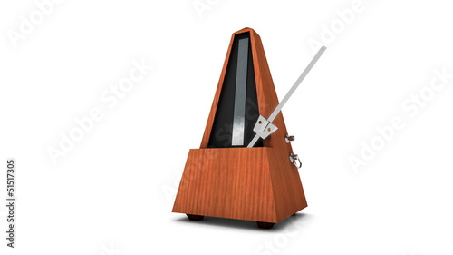 Zoom into Music Metronome on white background