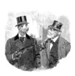 2 Gentlemen -  end 19th century