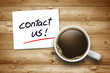 Cup of Coffee with contact us
