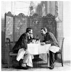 2 Men : Talking - end 19th century