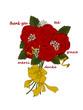 Muttertag, Karte mit Rosen