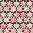 Anise stars seamless pattern in warm pink colors