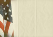 folded US flag paper