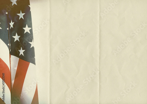 folded US flag paper