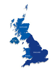 Vector map of Great Britain