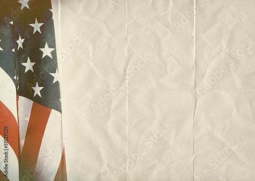 retro USA folded paper