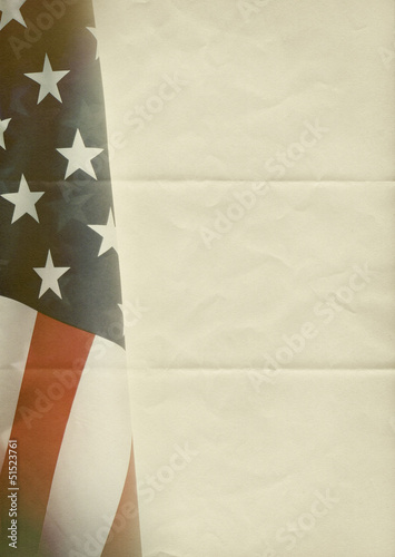 usa folded paper