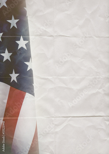 usa flag folded paper
