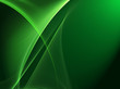 Abstract light green waves on grunge green background