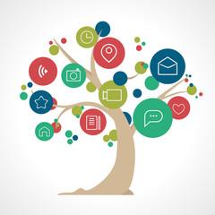 Icon Social media tree