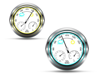 Barometer in two measuring positions, vector