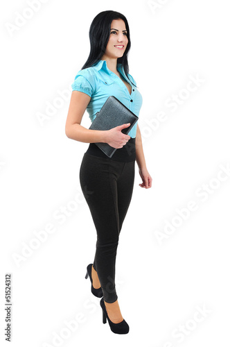 Isolated business girl