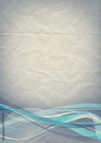 folded paper wave backdrop