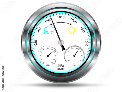 Barometer instrument for measuring air pressure,vector