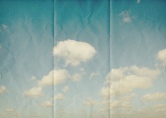 creased paper sky