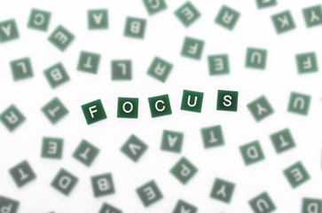 Focus  - Clear Letters Against Blurred