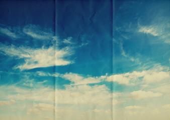 blue paper sky