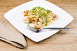 Pasta with Large Shrimp and Basil
