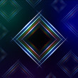 abstract blue background with shining multicolored squares