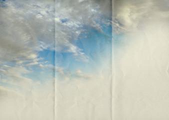 sky fade on paper