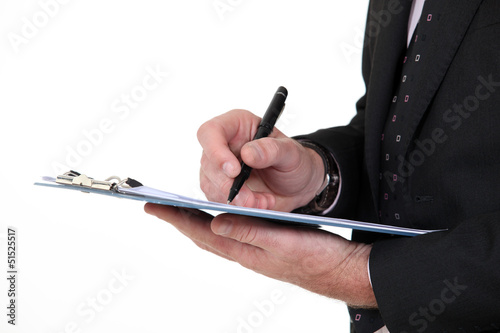 Writing on a clipboard
