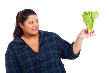 plus size woman hate lettuce