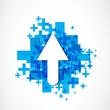 abstract positive arrow icon