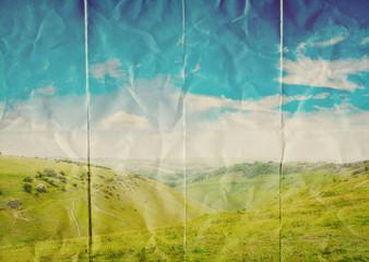 landscape on paper