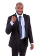 Black African American business man clenched fist - African peop