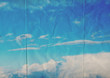 blue sky folded paper