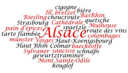 nuage de mots: Alsace