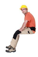 Manual worker taking a break