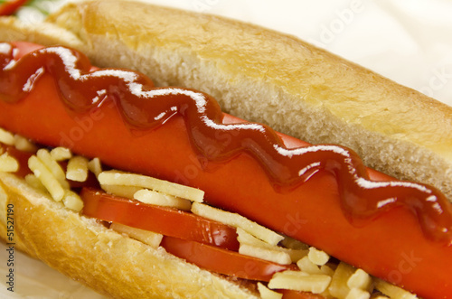Hot Dog With Ketchup