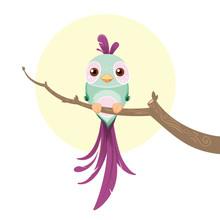 Симпатичные пастельных птица